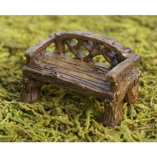 Rustikálna miniatúrna lavička