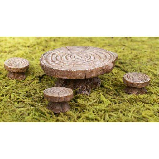Stôl so stoličkami - imitácia dreva
