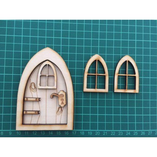 Rozprávkové dvere s oknami
