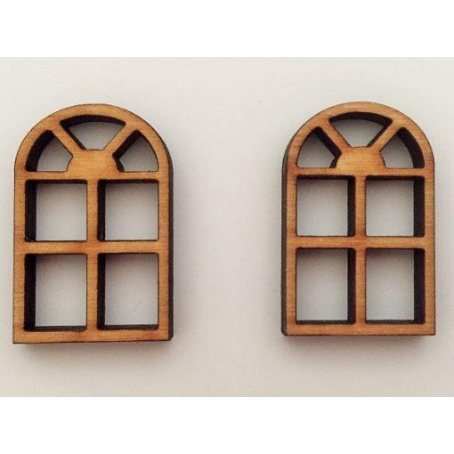 Oblúkové, mriežkované okno (2 ks)