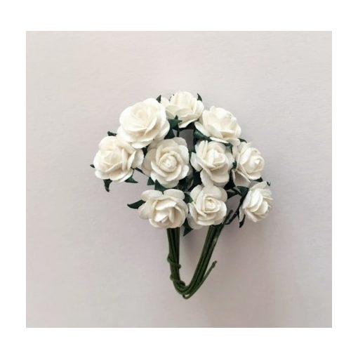 Papierový kvet, ruža, biely
