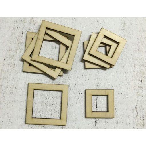 Drevený rám štvorcového tvaru