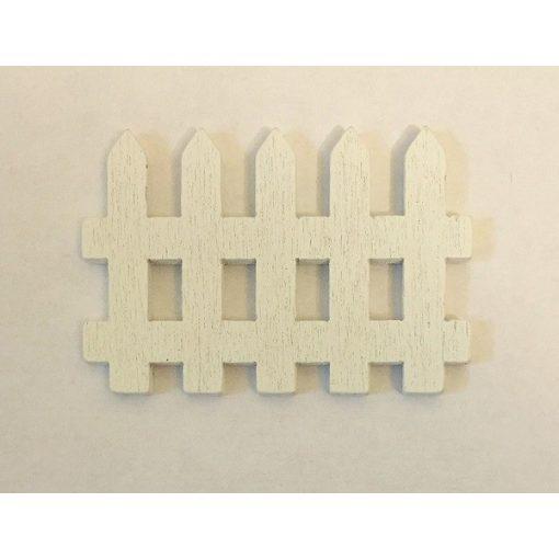 Drevený plot biely  5 x 3,5 cm