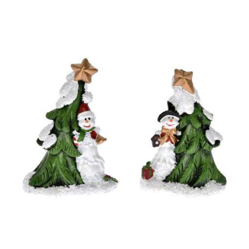 Stromček so snehuliakom 1 ks