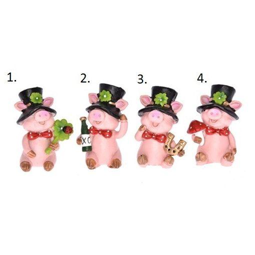 Prasiatkou v klobúku s ďatelinou, 4 druhy