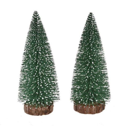 Zasnežený stromček 13 cm 2 ks