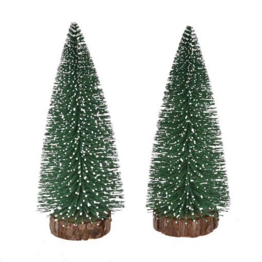 Zasnežený stromček 20 cm 2 ks
