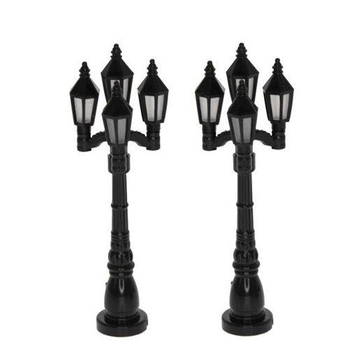 Pouličná lampa 2 kusová, 12 cm