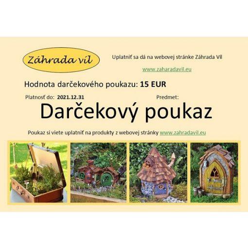 Darčekový poukaz 15 Eur
